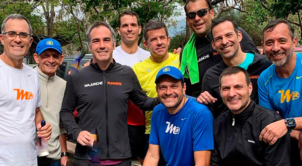 Los amigos de Majunche Runners estuvieron muy activados en su entrenamiento dominical/Cortesía