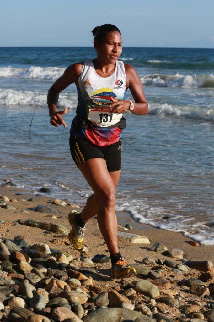 Cruz Salazar, ganadora de los 21 kilómetros